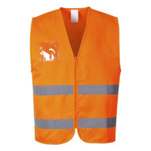 Portwest Hi-Vis Polycotton Zip Front Vest C497 Orange