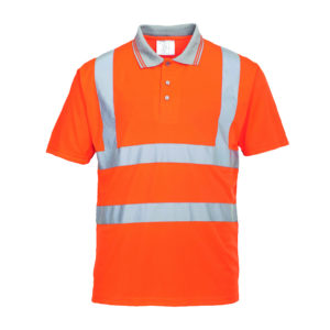 Portwest Hi-Vis Short Sleeve Polo Shirt RT22