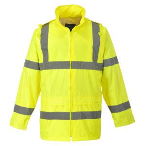 Portwest Hi-Vis Waterproof Rain Jacket H440 Yellow