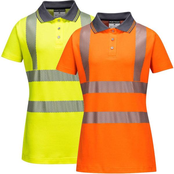 Portwest Ladies Hi-Vis Pro Polo Shirt LW72