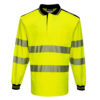 Portwest PW3 Hi-Vis Polo Shirt Long Sleeves Yellow