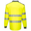 Portwest PW3 Hi-Vis Polo Shirt Long Sleeves Yellow Back