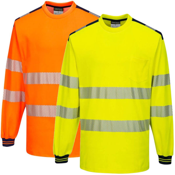 Portwest PW3 Hi-Vis T-Shirt Long Sleeves T185