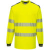 Portwest PW3 Hi-Vis T-Shirt Long Sleeves T185 Yellow