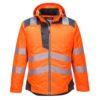 Portwest PW3 Hi-Vis Winter Jacket T400 Orange Grey