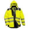Portwest PW3 Hi-Vis Winter Jacket T400 Yellow