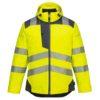 Portwest PW3 Hi-Vis Winter Jacket T400 Yellow Grey