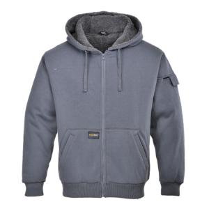 Portwest Pewter Hooded Jacket KS32 Grey