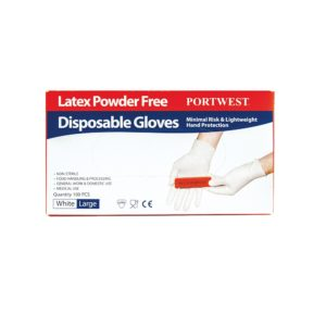 Portwest Powder Free Latex Disposable Glove A915