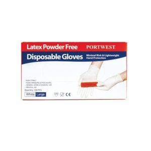 Portwest Powder Free Latex Disposable Glove A915