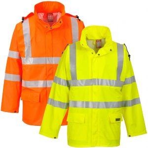 Portwest Sealtex Flame Resistant Waterproof Hi-Vis Jacket FR41