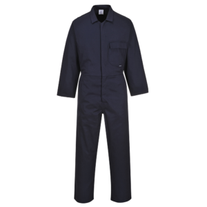 Portwest Stud Front 100% Cotton Overall C806 Navy Blue