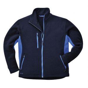 Portwest Texo Contrast Fleece Jacket TX40 Navy Blue