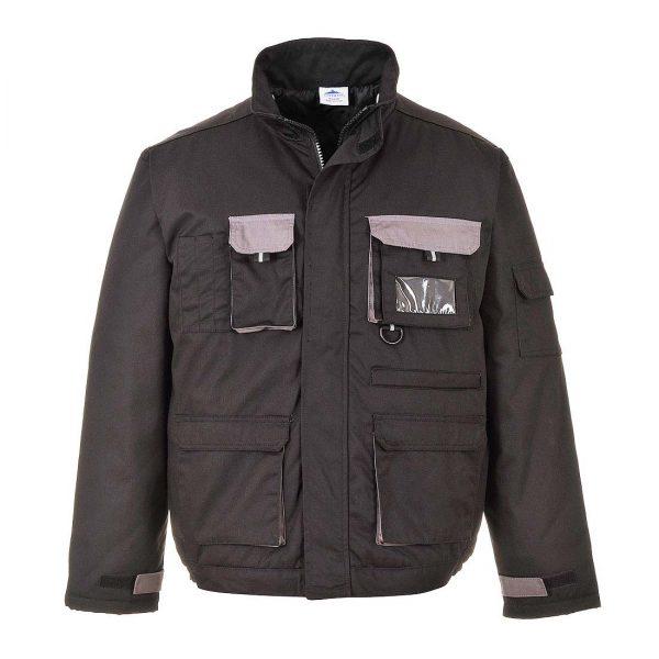Portwest Texo Contrast Lined Work Jacket TX18 Black
