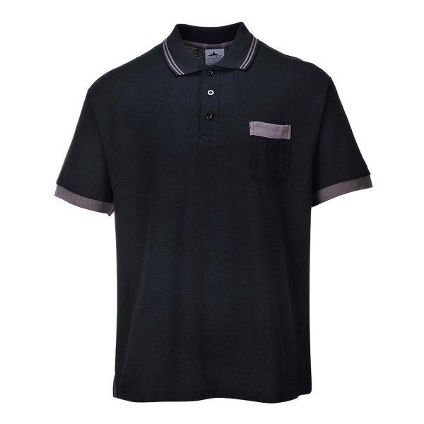 Portwest Texo Contrast Polo Shirt TX20 Black