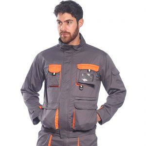 Portwest Texo Contrast Work Jacket TX10 Grey
