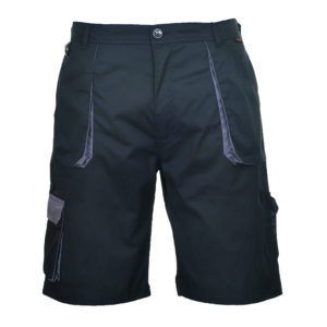 Portwest Texo Contrast Work Shorts TX14 Black