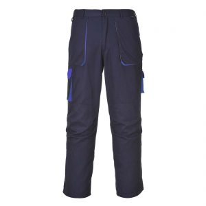 Portwest Texo Contrast Work Trousers TX11 Navy Blue