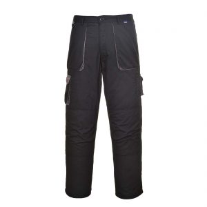 Portwest Texo Lined Contrast Trousers TX16 Black