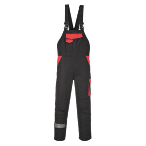 Portwest Texo Warsaw Bib & Brace Cotton Overalls CW12 Black