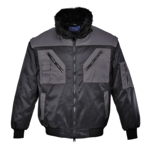 Portwest Two Tone 4-in-1 Pilot Jacket PJ20 Black Grey