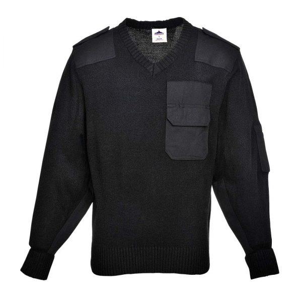 Portwest V-Neck Nato Sweater B310 Black