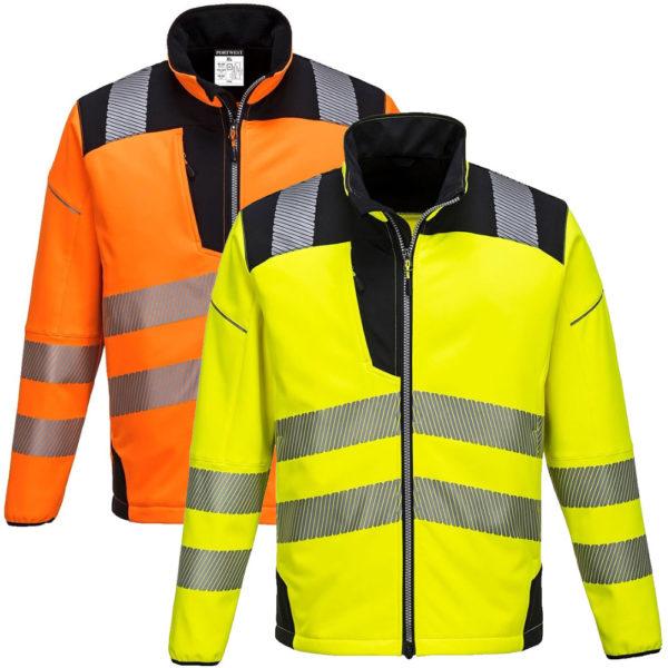 Portwest Vision Hi-Vis Softshell Jacket T402