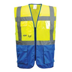 Portwest Warsaw Executive Vest C476 Yellow Royal