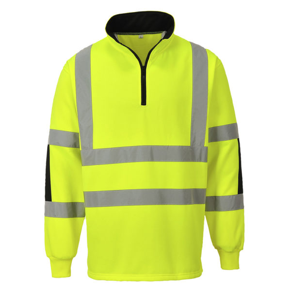 Portwest Xenon Hi-Vis Rugby Sweatshirt B308 Yellow