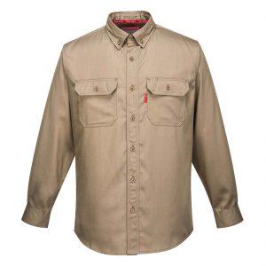 Portwest Bizflame Flame Resistant Shirt FR89 Khaki