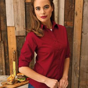 Premier Ladies Long Sleeve Poplin Shirt PR300