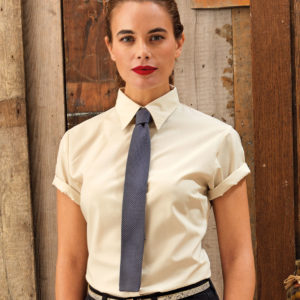 Premier Ladies Short Sleeve Poplin Blouse PR302
