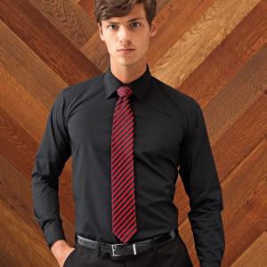 Premier Long Sleeve Fitted Poplin Shirt PR204