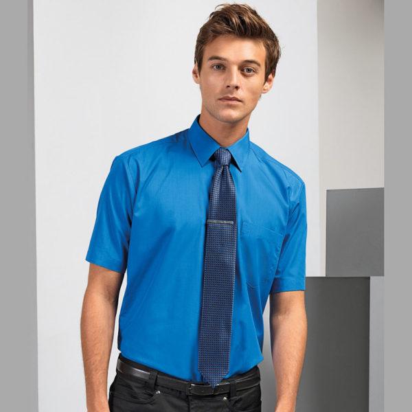Premier Short Sleeve Poplin Shirt PR202