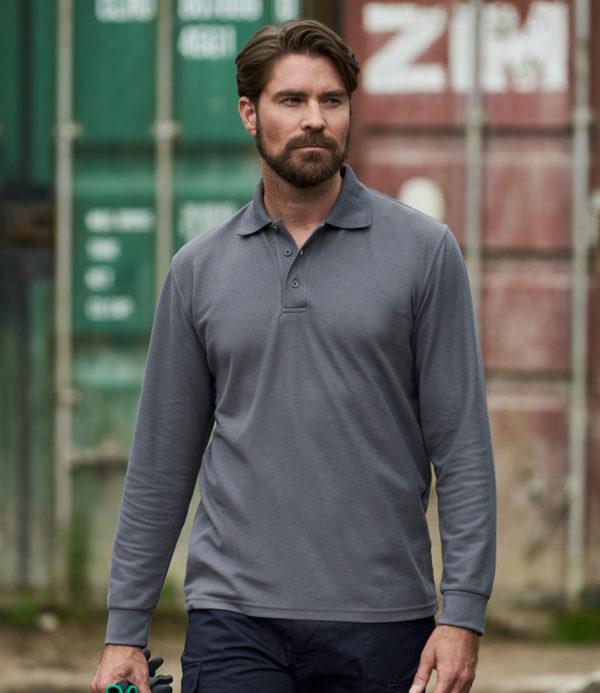 Pro RTX Pro Long Sleeve Pique Polo Shirt RX102