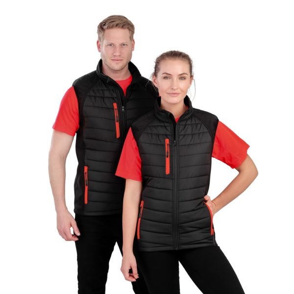Result Black Compass Padded Gilet RS238
