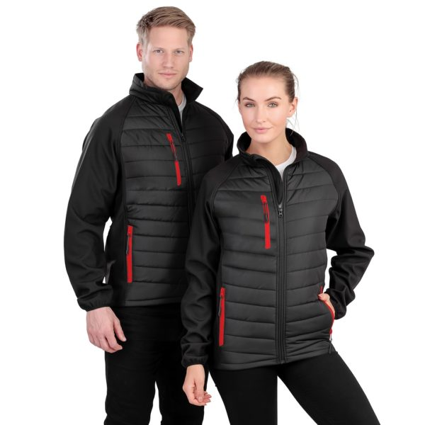 Result Black Compass Padded Jacket RS237 Unisex