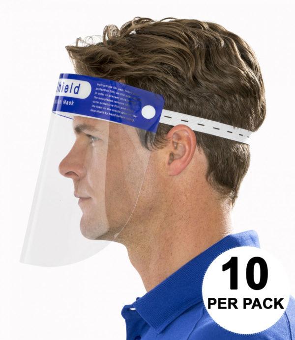Result Face Splash Shields Pack of 10 RV008