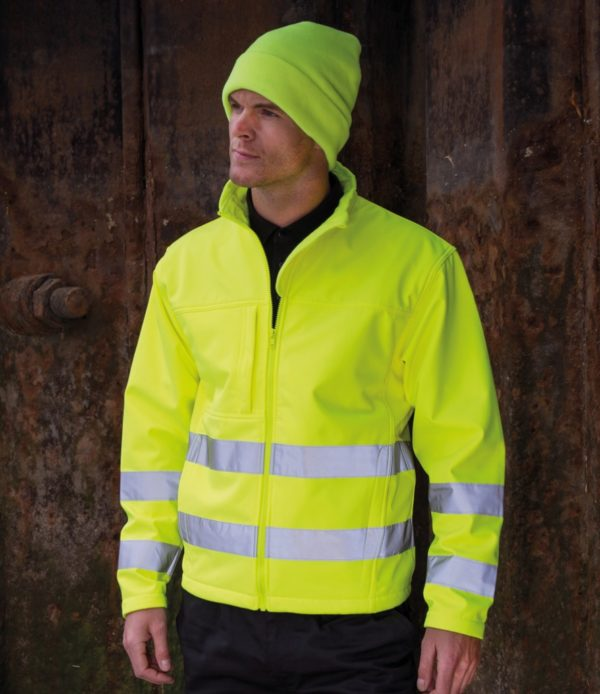 Result Hi-Vis Soft Shell Jacket RS117