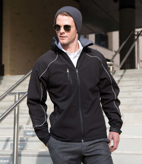 Result Work-Guard Ice Fell Hooded Soft Shell Jacket RS118