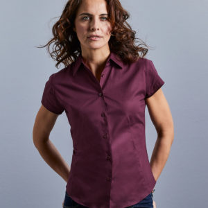 Russell Collection Ladies Short Sleeve Easy Care Fitted Shirt 947F