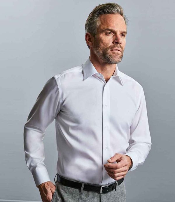 Russell Collection Long Sleeve Tailored Ultimate Non-Iron Shirt 958M