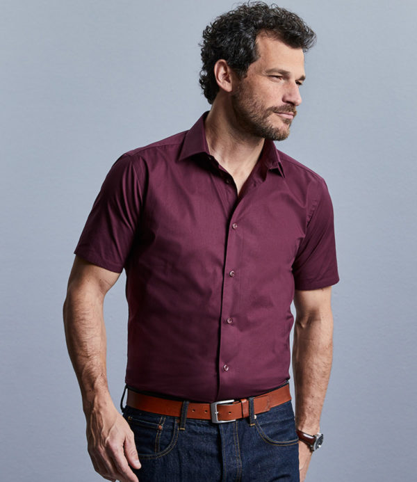 Russell Collection Short Sleeve Easy Care Fitted Shirt 947M