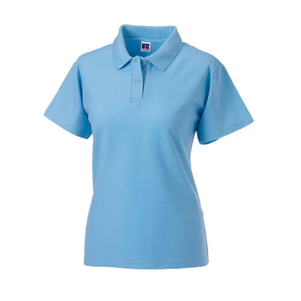 Russell ladies classic poly cotton pique polo shirt 539f for Ladies pique polo shirts
