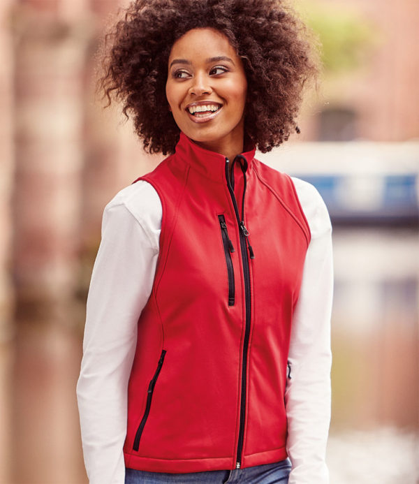 Russell Ladies Soft Shell Gilet 141F Red