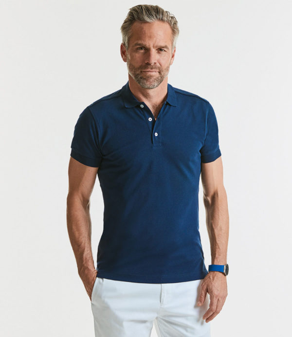 Russell Stretch Pique Polo Shirt 566M