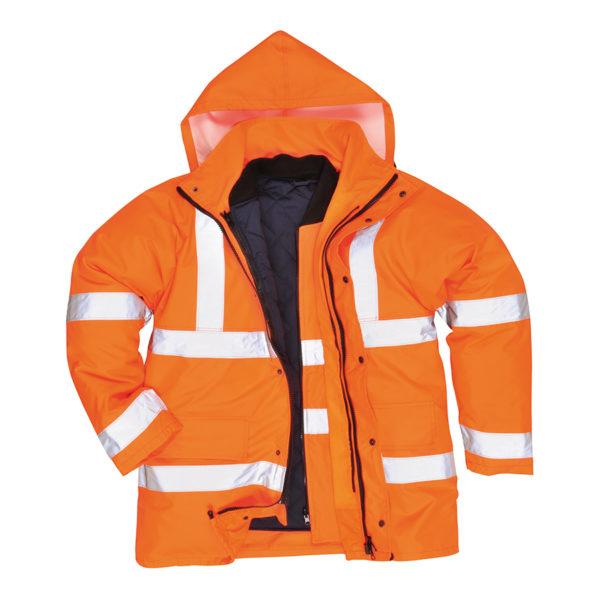 Portwest Hi-Vis 4-in-1 Traffic Jacket S468 - Orange