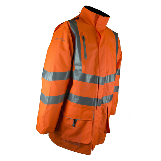 Sabre Breathable Hi Vis Rail Jacket