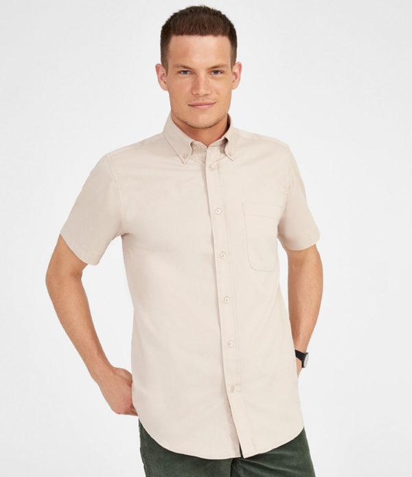 Short sleeve cotton twill shirt