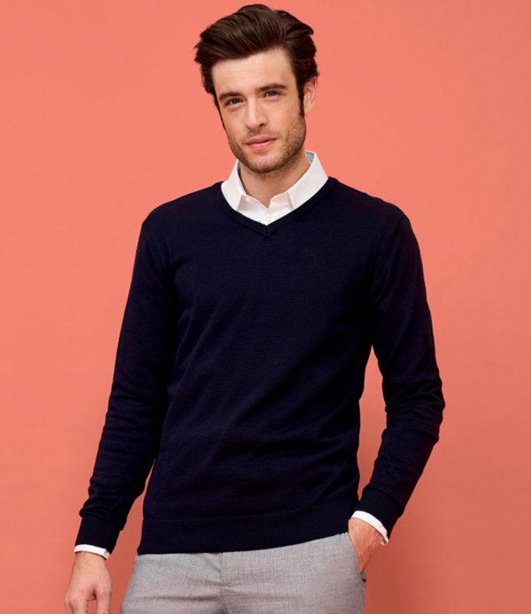 Cotton Acrylic V Neck Sweater
